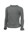Nocollection Pull Gris Col Ron