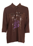 Basler T-shirt / Top Marron Po