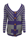 Kana Beach Gilet Violet Cardig