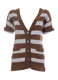 Lea Fashion Gilet Marron Cardi