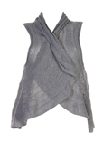 Cannisse Gilet Gris Gilet Femm