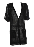 Not Shy Gilet Noir Cardigan Fe