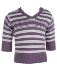 Ikks Pull Violet Col V Fille
