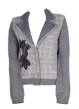 Finette Gilet Gris Cardigan Fe