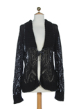 Finette Gilet Noir Cardigan Fe