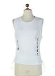 Com8 T-shirt / Top Blanc Casse