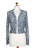 Finette Gilet Bleu Bolero Femm