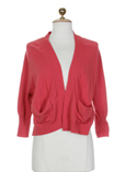 Hache Gilet Rose Cardigan Femm