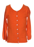 Cks Gilet Orange Cardigan Fill