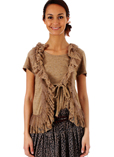 Molly Bracken Gilet Camel Card