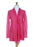 Not Shy Gilet Rose Cardigan Fe