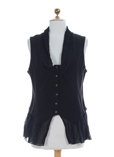 Sun Light Gilet Noir Gilet Fem