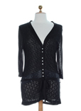Coco Menthe Gilet Noir Cardiga