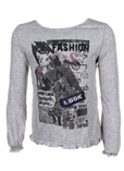 Ddp T-shirt / Top Gris Chine M
