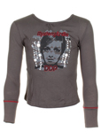 Ddp T-shirt / Top Gris Manche 