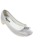 Repetto Chaussure Argente Ball