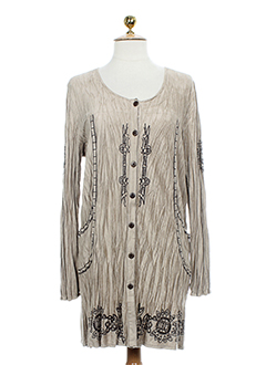 BE THE QUEEN Gilet BEIGE MULTICOLORE Cardigan FEMME (photo)