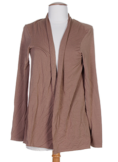 LA FEE MARABOUTEE Gilet MARRON Cardigan FEMME (photo)