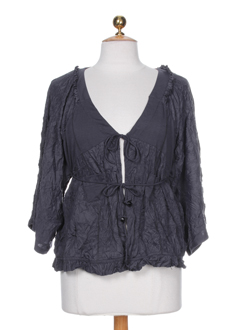 BE THE QUEEN Gilet GRIS Cardigan FEMME (photo)