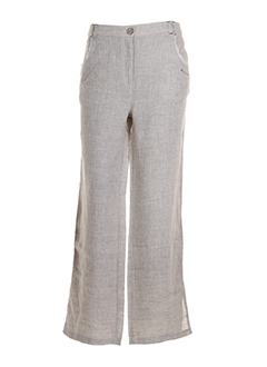 BE THE QUEEN Pantalon BEIGE MULTICOLORE Pantalon décontracté FEMME (photo)
