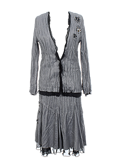 BE THE QUEEN Ensemble GRIS Jupe/Veste FEMME (photo)