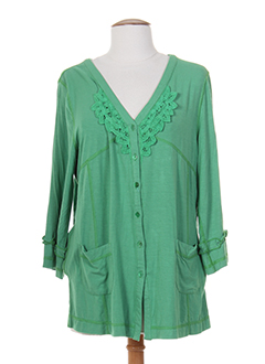 BE THE QUEEN Gilet VERT Cardigan FEMME (photo)
