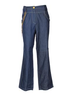 BE THE QUEEN Pantalon BLEU Pantalon décontracté FEMME (photo)