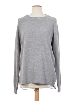 TIFFOSI Pull GRIS Col rond FEMME (photo)