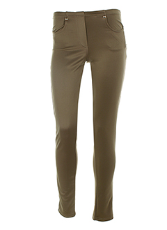 ZONE BLEUE Pantalon MARRON Legging FEMME (photo)