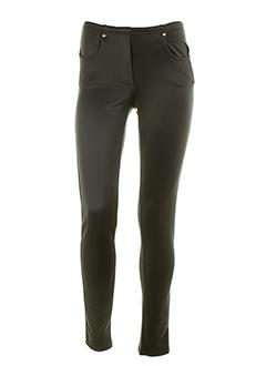 ZONE BLEUE Pantalon GRIS Legging FEMME (photo)