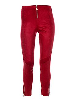 ZONE BLEUE Pantalon ROUGE Pantalon décontracté FEMME (photo)