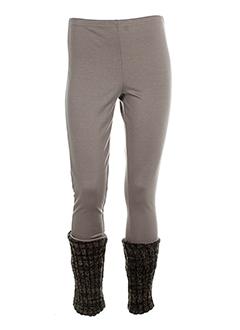 ZONE BLEUE Pantalon BEIGE Pantalon décontracté FEMME (photo)