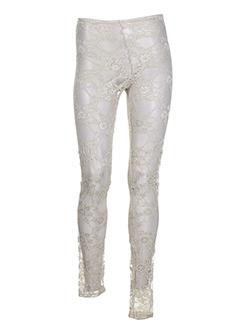 ZONE BLEUE Pantalon BEIGE Legging FEMME (photo)