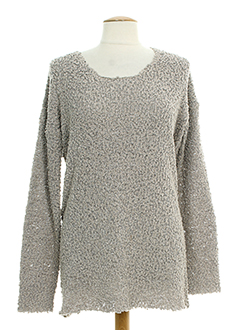 B.YOUNG Pull BEIGE Col rond FEMME (photo)