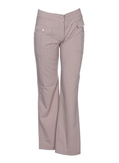 S.QUISE Pantalon BEIGE Pantalon citadin FEMME (photo)