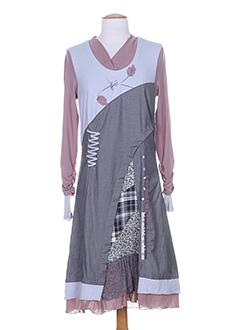 ALL BEAUTIFUL Robe GRIS Robe longue FEMME (photo)