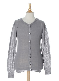 LA FEE MARABOUTEE Gilet GRIS Cardigan FILLE (photo)