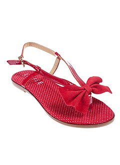 LA FEE MARABOUTEE Chaussure ROUGE Sandales/Nu pied FEMME (photo)