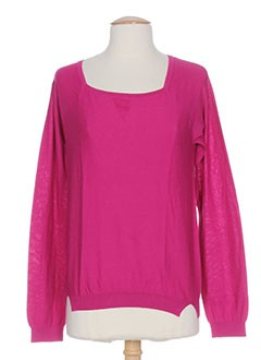 CKS Pull ROSE Col rond FEMME (photo)