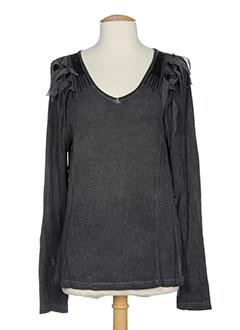 R 867 T-shirt / Top GRIS Manche longue FEMME (photo)