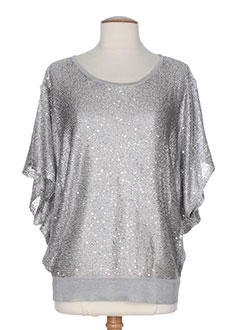 GELCO Pull GRIS Col rond FEMME (photo)