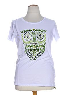 OPEN END T-shirt / Top VERT Manche courte FEMME (photo)