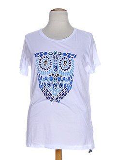 OPEN END T-shirt / Top BLEU Manche courte FEMME (photo)