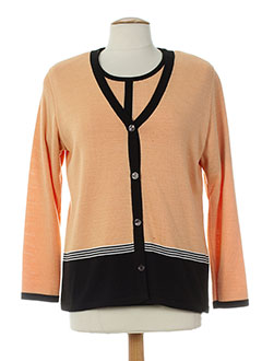 EUGEN KLEIN Gilet ORANGE Cardigan FEMME (photo)