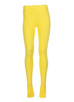 TOMMY HILFIGER Pantalon JAUNE Legging FEMME (photo)