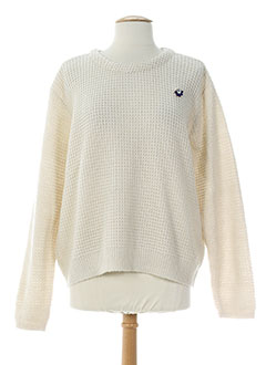 CKS Pull BEIGE Col rond FEMME (photo)