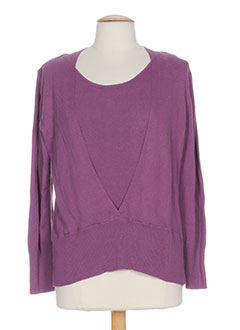 GELCO Pull VIOLET Col rond FEMME (photo)