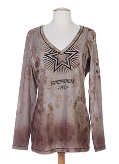 SPORTALM T-shirt / Top MARRON Manche longue FEMME (photo)