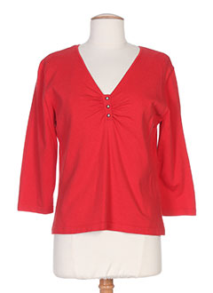 GELCO Pull ROUGE Col V FEMME (photo)