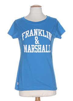 FRANKLIN MARSHALL T-shirt / Top BLEU Manche courte FEMME (photo)
